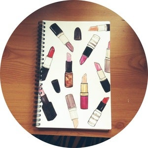 Image of Lipstick Print Notebook