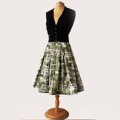 View full pleated 50s skirt in original polished cotton fabric