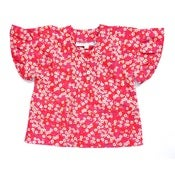 Image of Iroka Liberty print top in Mitsi pink