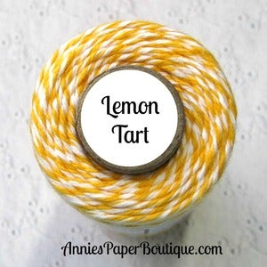 Image of Lemon Tart Trendy Twine {Yellow & White Bakers Twine}