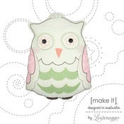 Image of Hootie Owl 'Stitch Me' Cushion