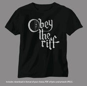 Image of TEE / MP3 BUNDLE - OBEY THE RIFF