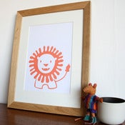 Image of Friendly Little Lion Handscreenprinted Poster