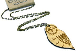Image of Woodland Owl Necklace
