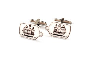 Image of Ship in a Bottle Cufflinks