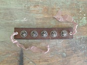 Image of Vintage Leather Cuff with Antique Buttons