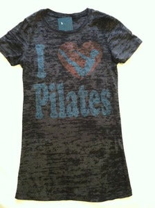 Image of I heart Pilates - burnout t-shirt - black