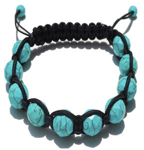 Image of Black Silk w/ Turquoise