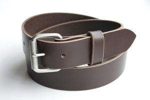 Image of The Roller Buckle Belt - Brown