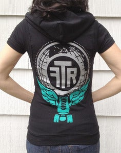 Image of Winged skate Black Sleeveless hoodie