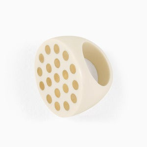 Image of Polka Dot Statement Ring | Bone + Golden