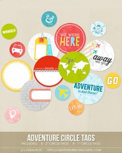 Image of Adventure Circle Tags (Digital)