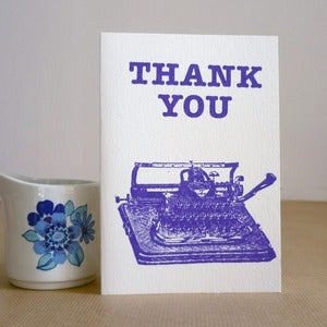 Image of Thank You typewriter card