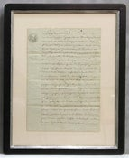 Image of Custom framed antique French document, one of a kind (II)