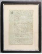 Image of Custom framed antique French document, one of a kind (IV)