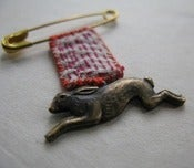 Image of Vintage brass Bunny brooch
