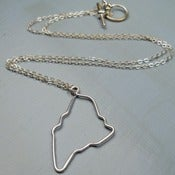 Image of Maine State Outline Necklace