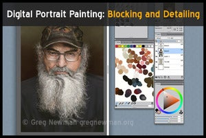 Image of Digital Portrait Painting: Blocking and Detailing