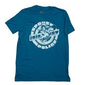 Image of Join the Space Police pinup tshirt - Indigo Blue
