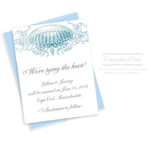 Image of Floating Jellyfish Save the Date - Sample