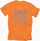 Image of Orange Irresponsible T-shirt
