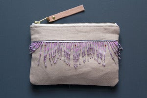 Image of PASTEL Beaded Aztec Clutch