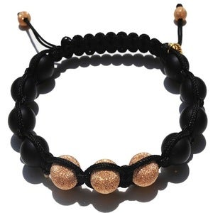 Image of Black Silk w/ 3 Rose Gold