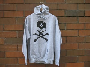 "Image of City of Savages ""Bone Collector"" Hoodie (Sports Grey/Black)"