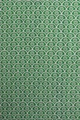 "Image of ""Fan"" handprinted fabric {green}"
