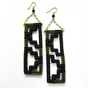 Image of Bronze Windowpane Earrings