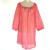 Image of Linen Gauze Overshirt in Watermelon Pink