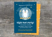Image of Night Owl Birthday Invitation (10)