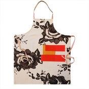 Image of apron in rose charcoal