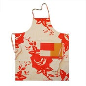 Image of apron in rose scarlet and tartan