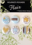 "Image of Baby Boy Flair - 6 x 1"" Flatback Buttons / Badges - Rourke's Rounds"