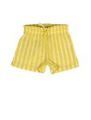 Image of KIDSCASE scott organic baby shorts, yellow-offwhite