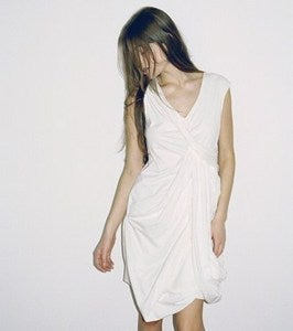 Image of WHITE T-SHIRT DRESS