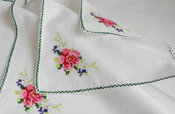 Image of Embroidered Vintage Swiss Handkerchiefs x 4