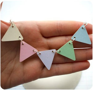 Image of • Pastels • Bunting Necklace