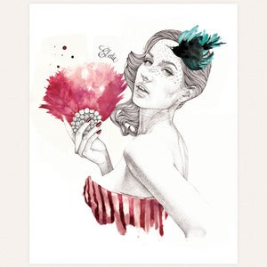 Image of 'Gorgeous' original drawing by Ëlodie
