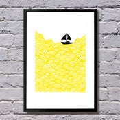 A4 size Bigger Boat giclee print - more colours