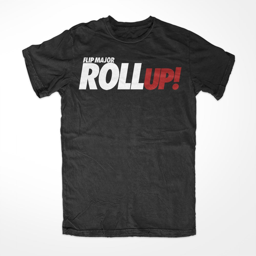 Image of Flip Major Roll Up Tee - Black