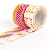 Image of Pink & Orange Gift Washi Tape Set
