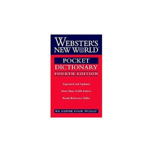 "Image of Webster's ""New World Pocket Dictionary"""