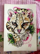 "Image of Margay x Mouse Original Painting (7x10"")"