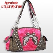 Image of WESTERN DOUBLE PISTOL RHINESTONE PURSE