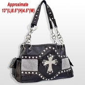 Image of RHINESTONE CROSS HANDBAG