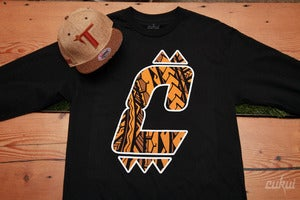 Image of Tiger Tribal C Logo Longsleeve - Black