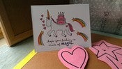Image of SINGLE NOTECARDS: Unicorn Birthday Card