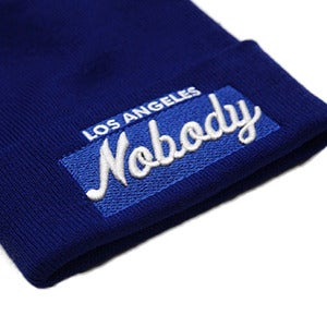 Image of LOS ANGELES NOBODY Royal Blue Beanie
